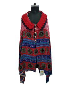 Full Embroidered designer shrug multi color