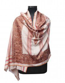 Women pure wool shawls colour brown