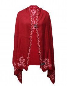 Women pure wool shurg handwork red