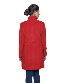 Womens Woolen Coat long Rust