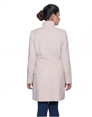 Womens Woolen Coat long Stone