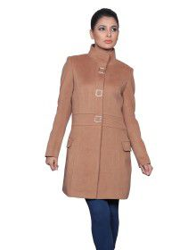 Womens Woolen Coat long Camel